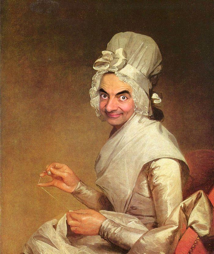 Artista coloca Mr. Bean em 22 sensacionais quadros clássicos 2