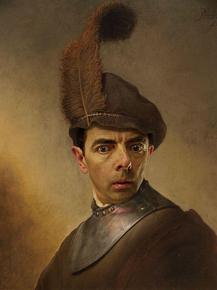 Artista coloca Mr. Bean em 22 sensacionais quadros clássicos 3