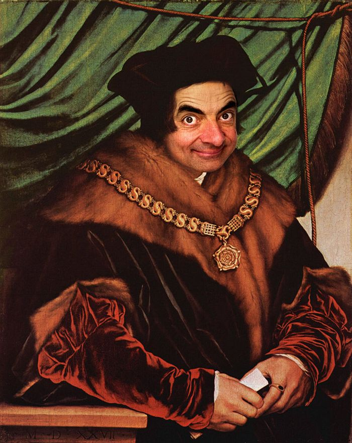 Artista coloca Mr. Bean em 22 sensacionais quadros clássicos 4