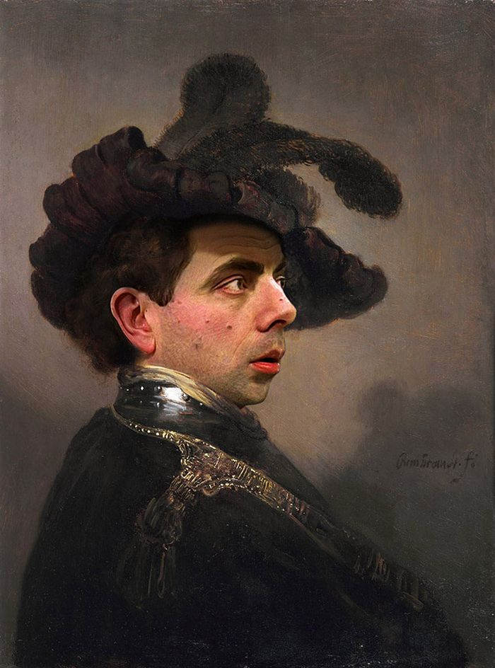 Artista coloca Mr. Bean em 22 sensacionais quadros clássicos 8