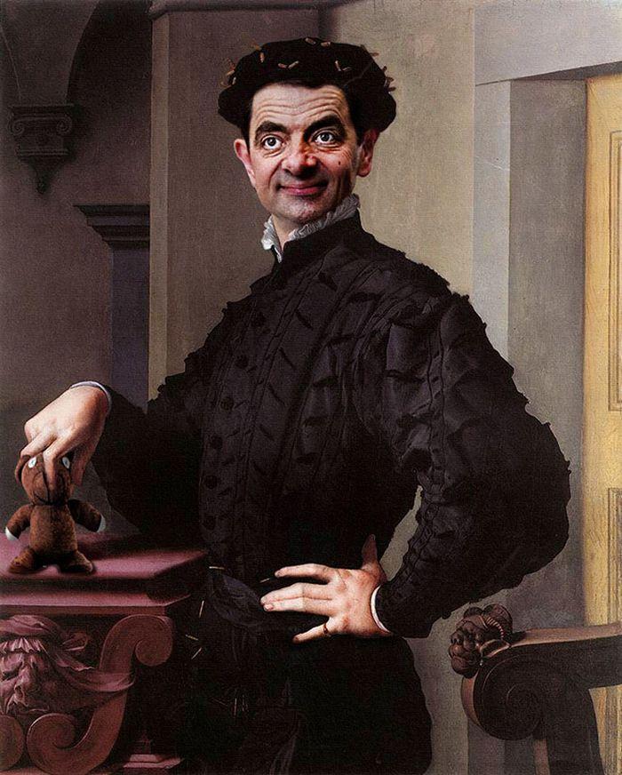 Artista coloca Mr. Bean em 22 sensacionais quadros clássicos 10