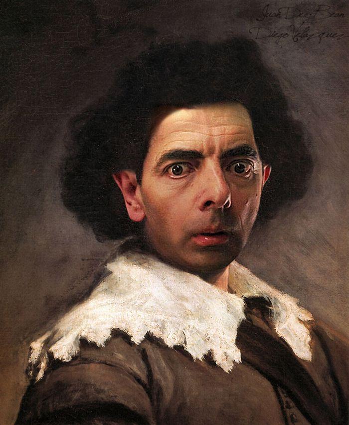 Artista coloca Mr. Bean em 22 sensacionais quadros clássicos 13
