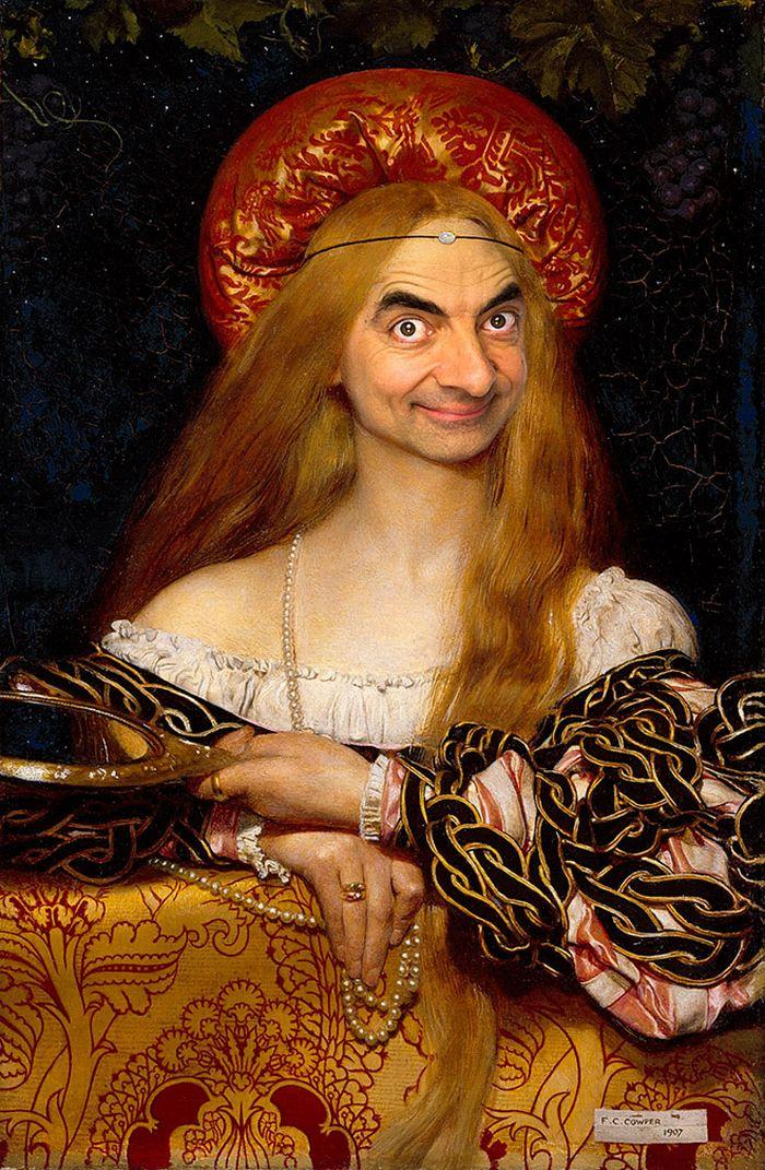 Artista coloca Mr. Bean em 22 sensacionais quadros clássicos 14