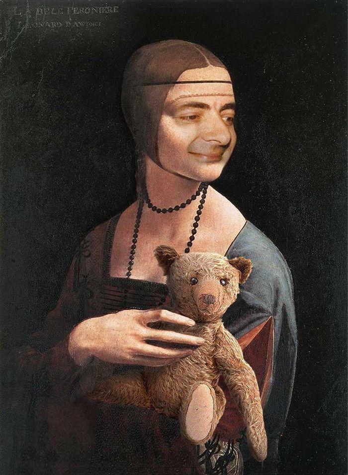 Artista coloca Mr. Bean em 22 sensacionais quadros clássicos 16
