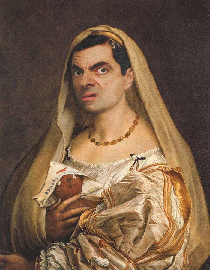 Artista coloca Mr. Bean em 22 sensacionais quadros clássicos 18