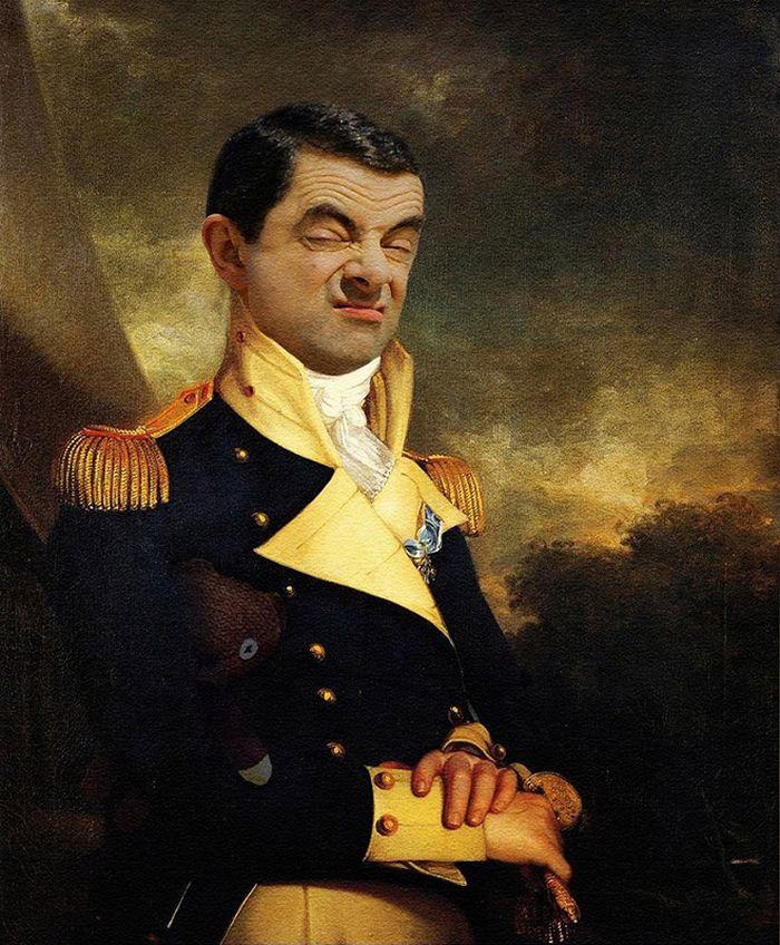 Artista coloca Mr. Bean em 22 sensacionais quadros clássicos 20