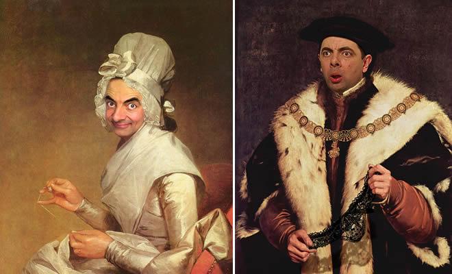 Artista coloca Mr. Bean em 22 sensacionais quadros clássicos 29