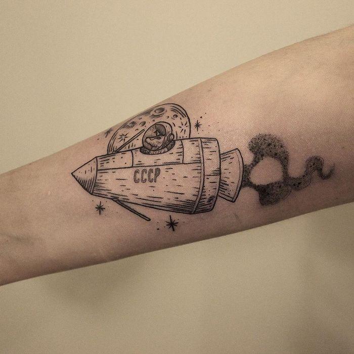 32 ideias de tatuagens inspiradas no espaço 3