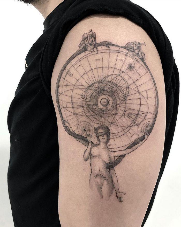32 ideias de tatuagens inspiradas no espaço 17