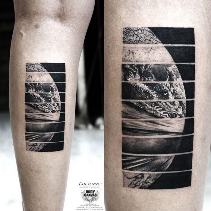 32 ideias de tatuagens inspiradas no espaço 18