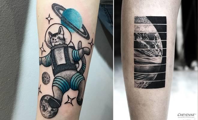 32 ideias de tatuagens inspiradas no espaço 1
