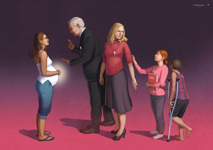 35 ilustrações mostram o que há de errado com nossa sociedade 14