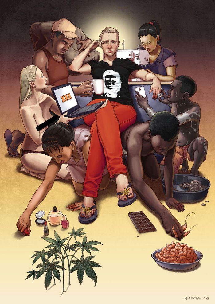 35 ilustrações mostram o que há de errado com nossa sociedade 36