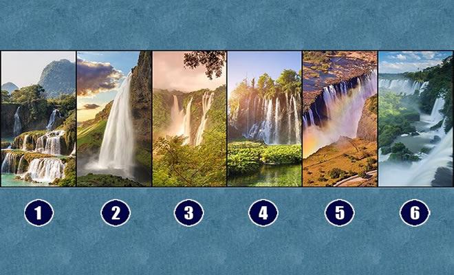 Receba uma mensagem ao escolher uma cachoeira que pode mudar o seu dia!