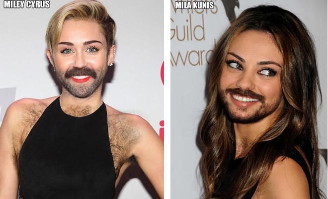 Celebridades femininas com barbas (22 fotos) 1
