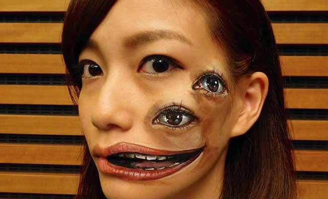 21 idéias assustadoras de maquiagem bem a tempo para o Halloween 36