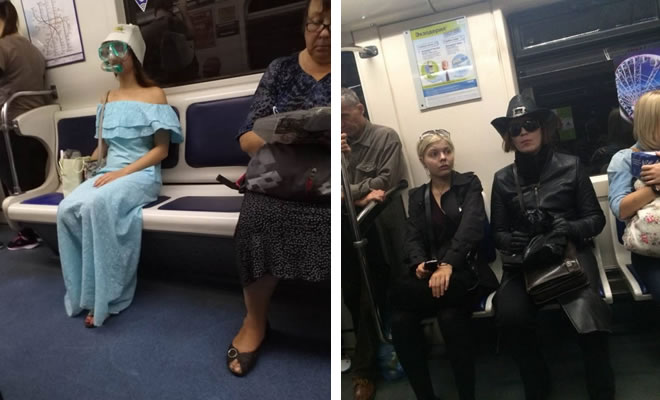 Metrô um lugar cheio de gente estranhas (31 fotos) 7