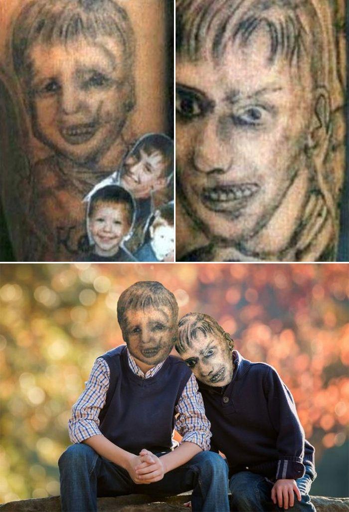 Tatuagens que não são nada parecidas com a vida real (21 fotos) 7