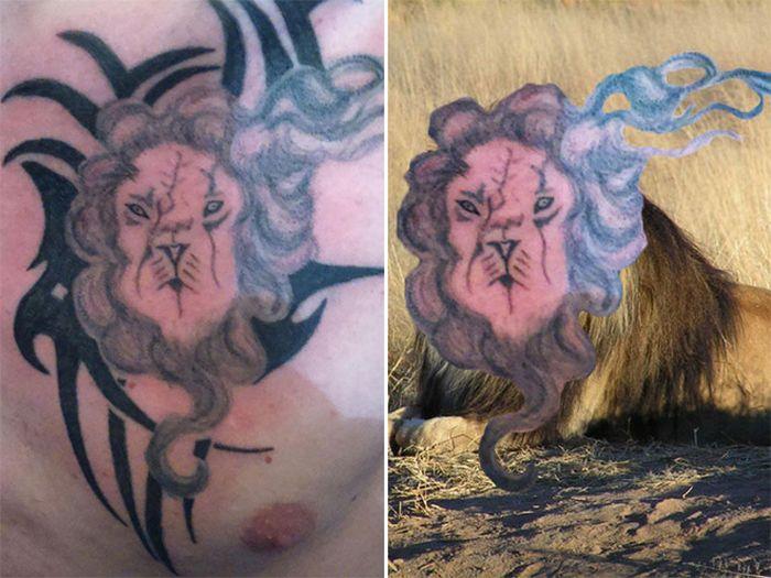 Tatuagens que não são nada parecidas com a vida real (21 fotos) 20