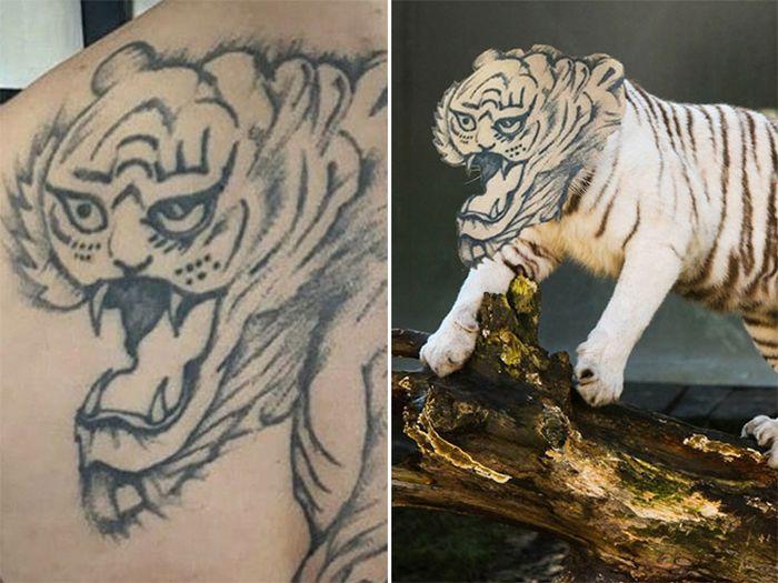 Tatuagens que não são nada parecidas com a vida real (21 fotos) 21