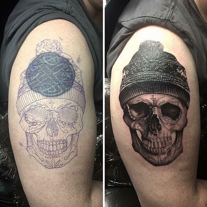 28 tatuagens que receberam retoques impressionantes 12