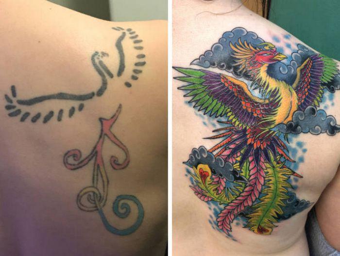 28 tatuagens que receberam retoques impressionantes 16