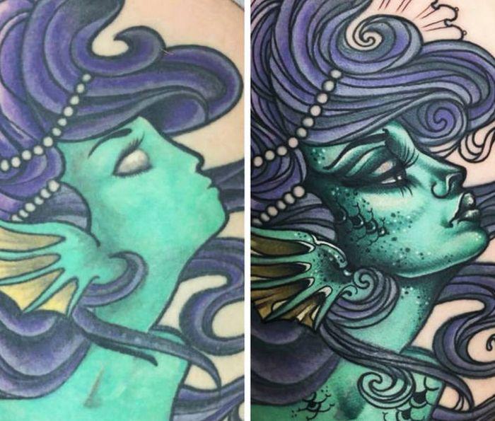 28 tatuagens que receberam retoques impressionantes 18