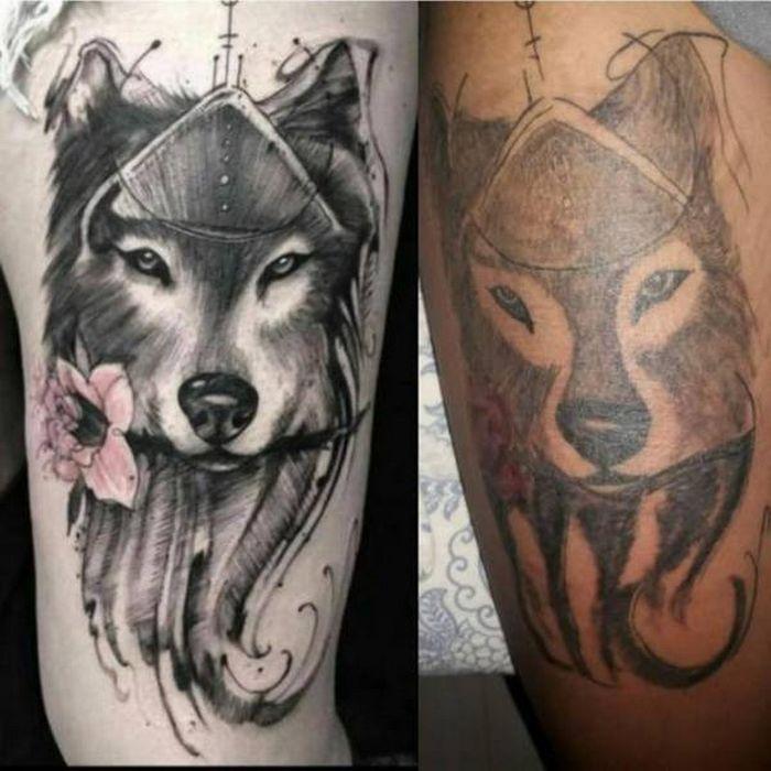 28 tatuagens que receberam retoques impressionantes 28