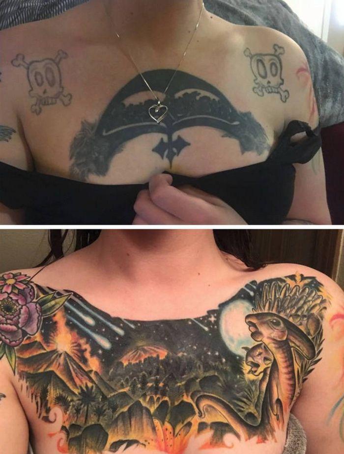 28 tatuagens que receberam retoques impressionantes 29