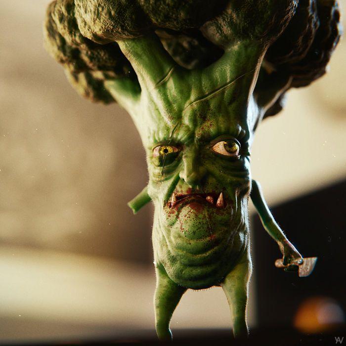 Artista reimagina personagens de desenhos e vários objetos como personagens de terror (17 fotos) 7