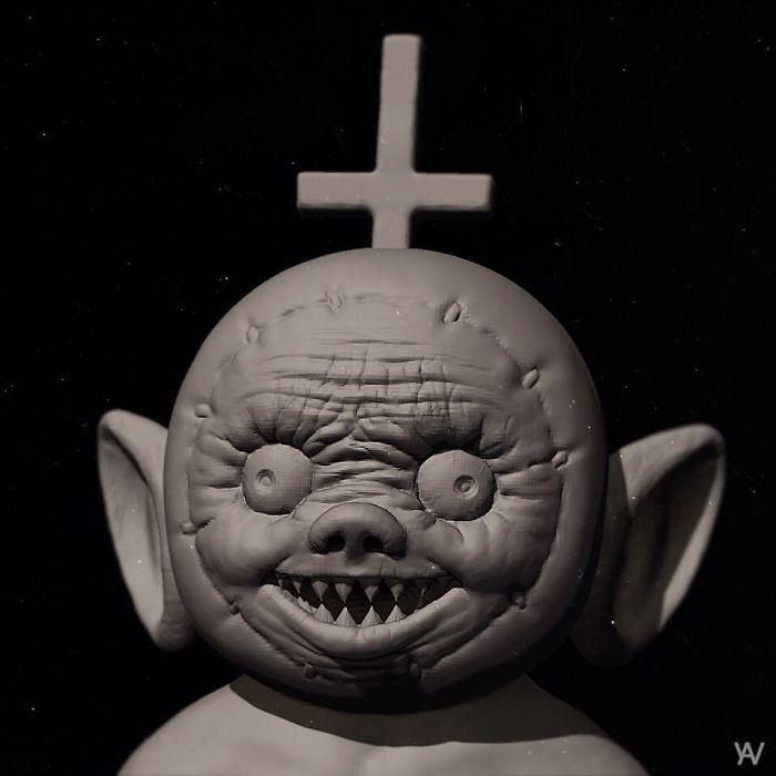Artista reimagina personagens de desenhos e vários objetos como personagens de terror (17 fotos) 15