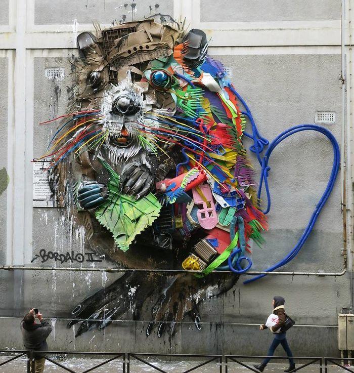 Artista transforma lixo em animais para nos lembrar sobre poluição 5