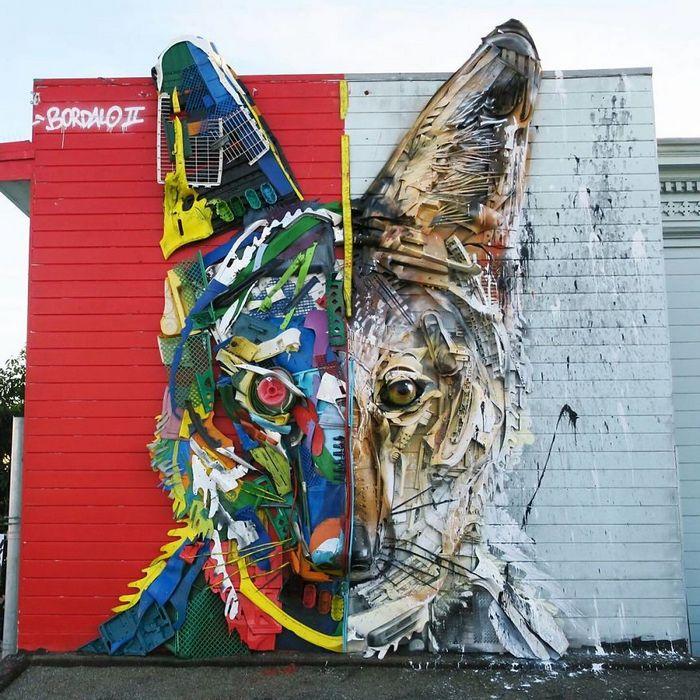 Artista transforma lixo em animais para nos lembrar sobre poluição 7