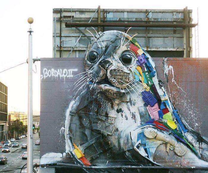 Artista transforma lixo em animais para nos lembrar sobre poluição 8
