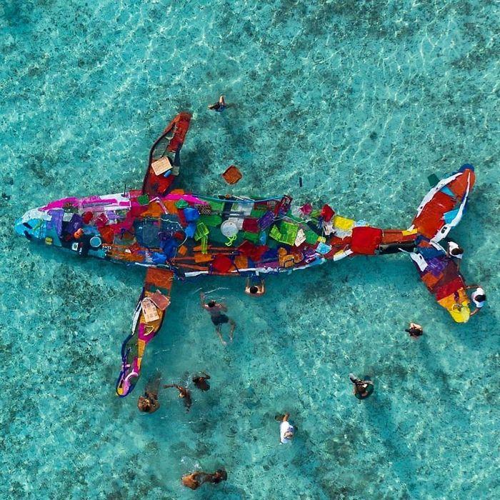 Artista transforma lixo em animais para nos lembrar sobre poluição 17