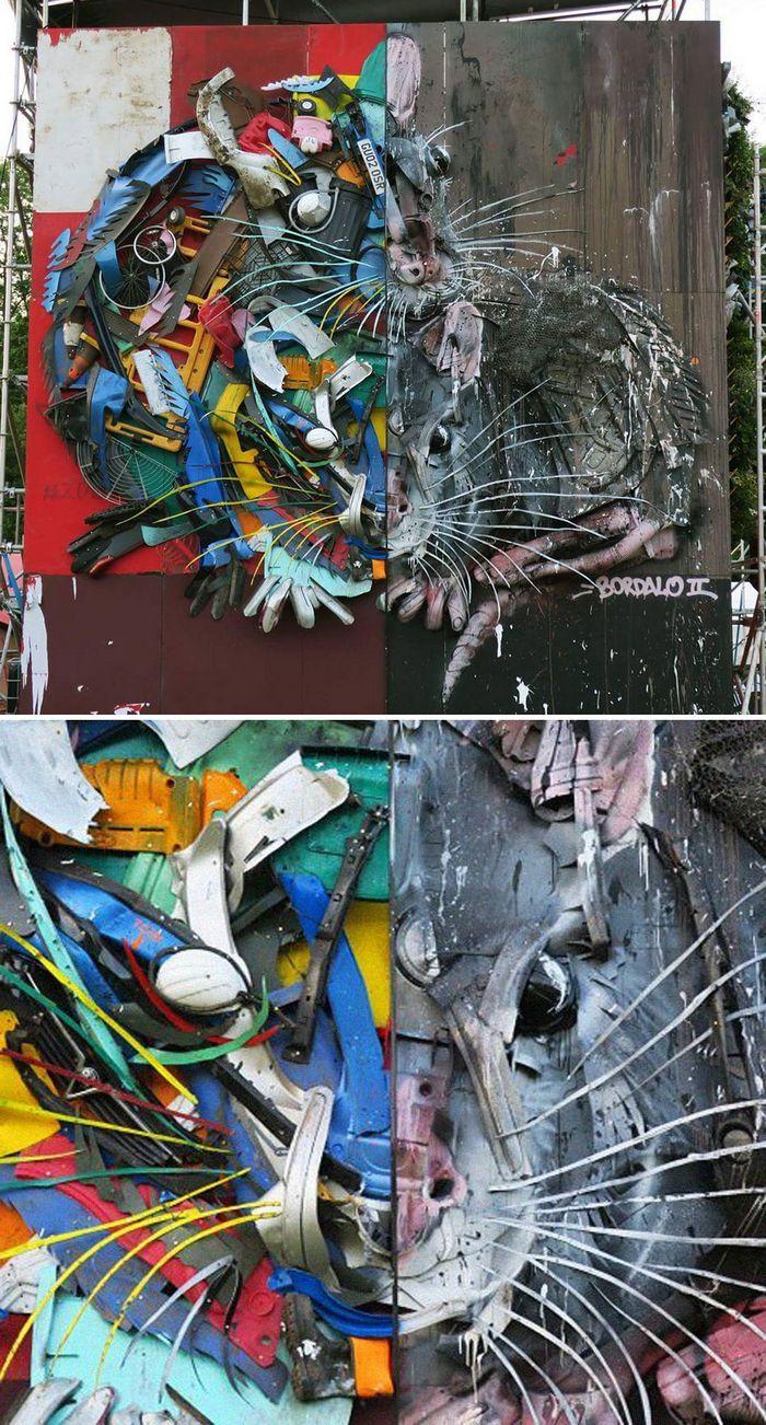 Artista transforma lixo em animais para nos lembrar sobre poluição 23