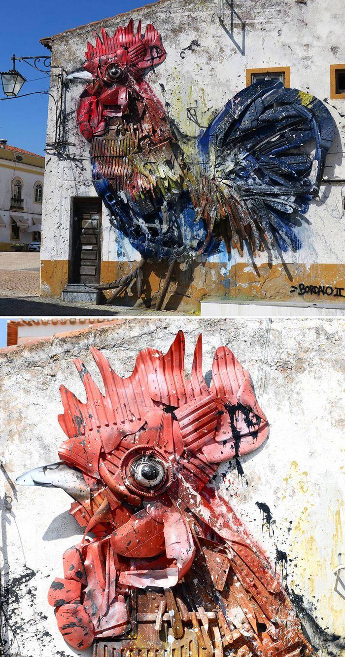 Artista transforma lixo em animais para nos lembrar sobre poluição 25
