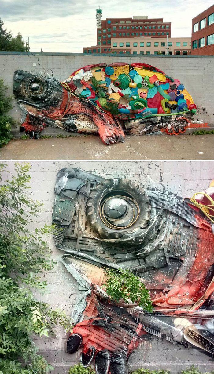 Artista transforma lixo em animais para nos lembrar sobre poluição 26