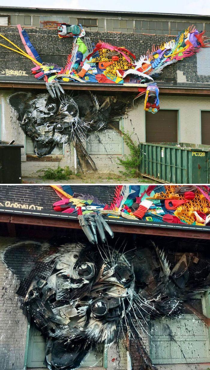 Artista transforma lixo em animais para nos lembrar sobre poluição 27