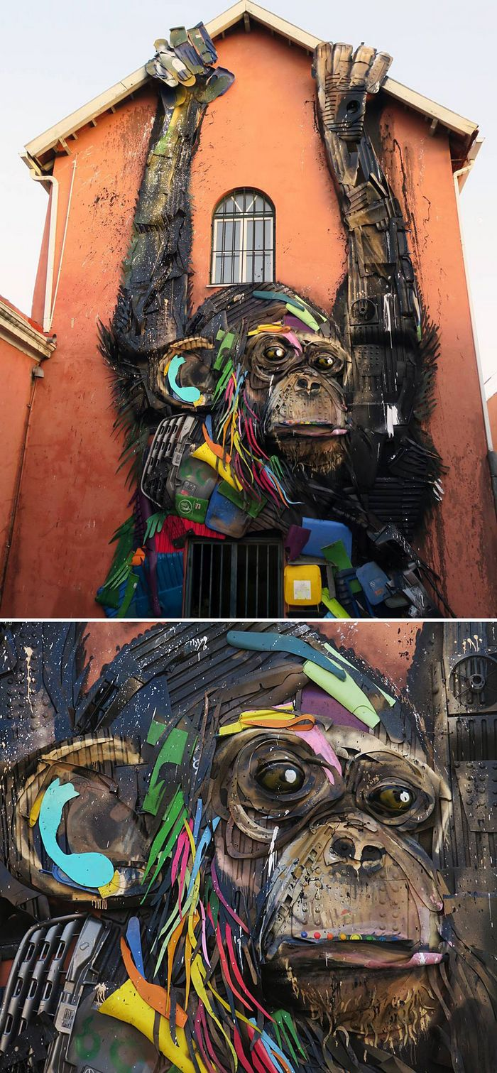 Artista transforma lixo em animais para nos lembrar sobre poluição 30