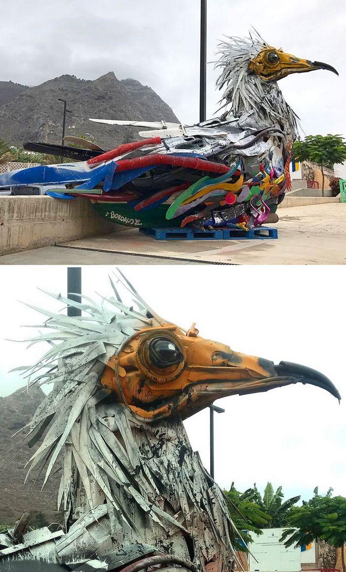 Artista transforma lixo em animais para nos lembrar sobre poluição 31