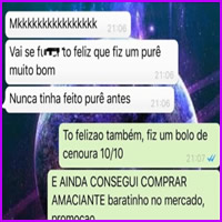 Conversa de adulto no WhatsApp