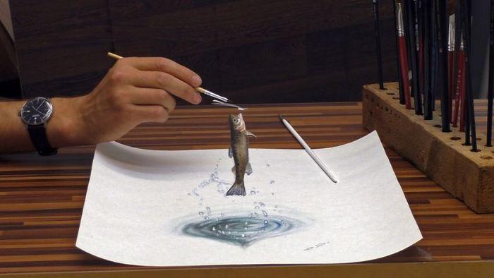 Artista alemão cria desenhos 3D incríveis em papel (30 fotos) 3