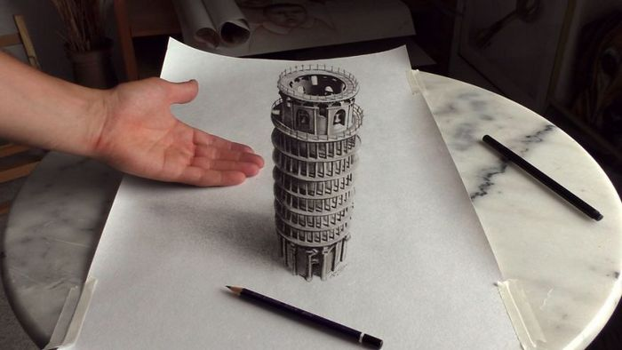 Artista alemão cria desenhos 3D incríveis em papel (30 fotos) 4