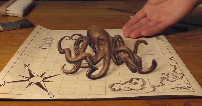 Artista alemão cria desenhos 3D incríveis em papel (30 fotos) 10