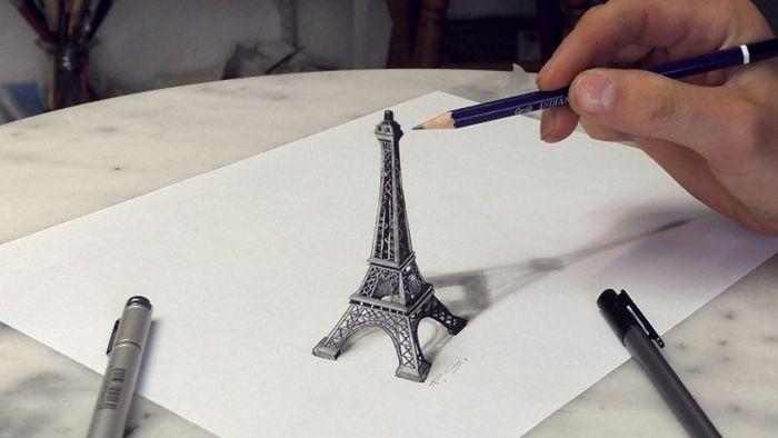 Artista alemão cria desenhos 3D incríveis em papel (30 fotos) 23