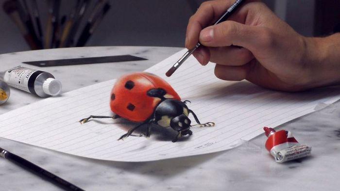 Artista alemão cria desenhos 3D incríveis em papel (30 fotos) 26