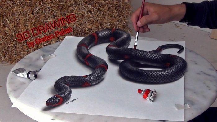 Artista alemão cria desenhos 3D incríveis em papel (30 fotos) 30