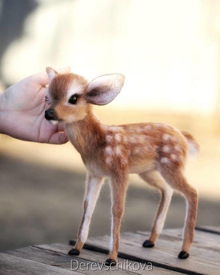 Artista russo criar animais de lã feltrada que são uma fofura (25 fotos) 12
