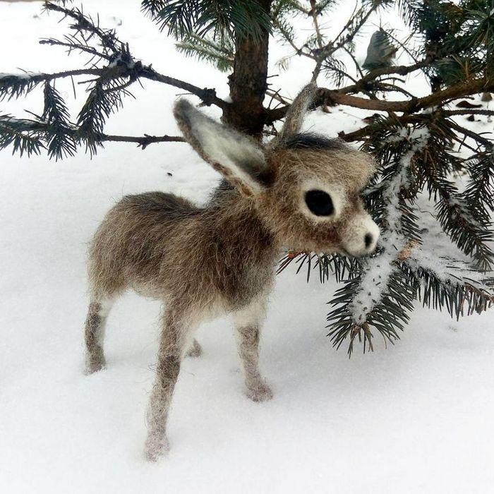 Artista russo criar animais de lã feltrada que são uma fofura (25 fotos) 25